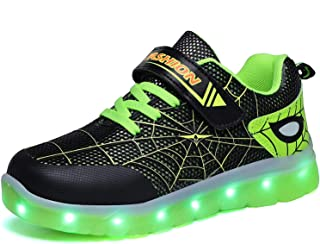 Kauson LED Zapatos Verano Ligero Transpirable Impermeable Bajo 7 Colores USB Carga Luminosas Parpadeo Deporte de Zapatilla...