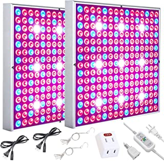 Skylaxy LED Grow Lights for Indoor Plants with Timer, 75w Plant Grow Light Full Spectrum Plant Lamps Red Blue and White for Seedling, Hydroponic, Vegetable and Flower (2pack)