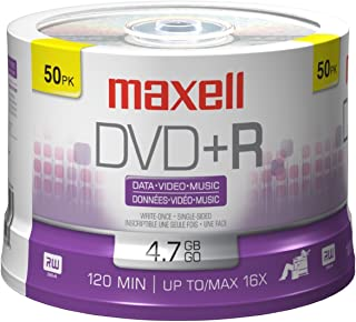 MAXELL Disc, DVD+R, 4.7GB for General use, 16X 50/spindle, Branded 50/PK [並行輸入品]