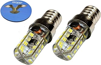 HQRP 2-Pack E14 Base 64 SMD3014 LED Bulbs AC 110-220V Cool White for Microwave/Refrigerator Lights + HQRP Coaster