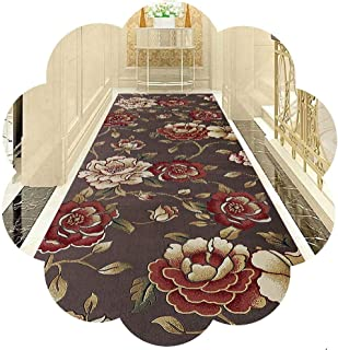 HAIPENG Very Long Hallway Runner Rug Perfect for Hall Entrance Staircase Kitchen, 3D Flower Entryway Carpet, Non Slip, Cus...