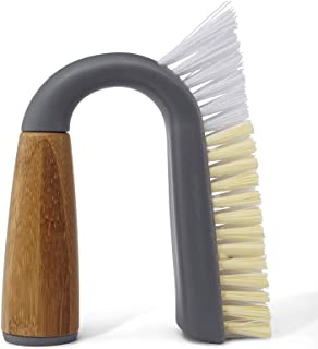 Full Circle Grunge Buster Grout and Tile Brush Grey FC11125GY, Bamboo, 11 x 3.8 x 14 cm