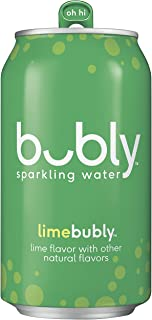 bubly Sparkling Water, Lime, 12 fl oz (pack of 18 cans)
