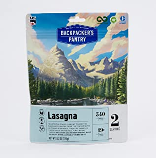 Backpacker's Pantry Lasagna, 2 Servings Per Pouch, Freeze Dried Food, 19 Grams of Protein, Vegetarian