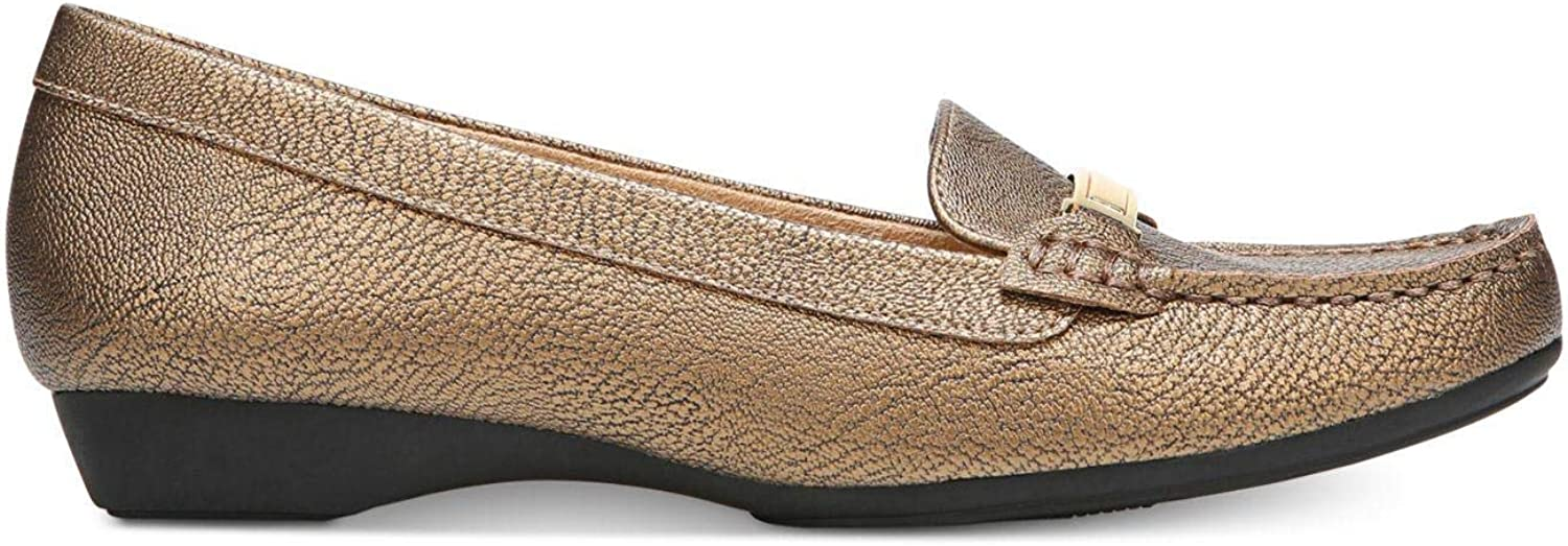 Naturalizer Womens Gadget Snake Print Loafers