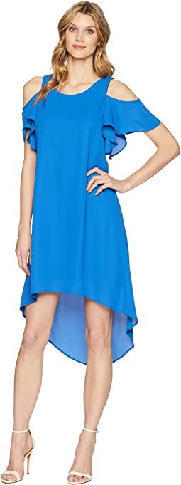 Karen Kane Cold Shoulder High-Low Dress
