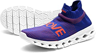 Jazba Sockun Knitted Shoe Sock Sneakers for Women Running Walking and Comfy Indoor Living