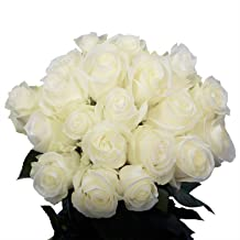 GlobalRose White Roses- Fresh Flowers Delivery- 50 Long Stems
