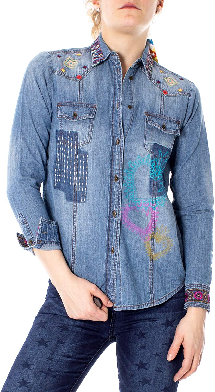 Desigual Long Sleeve Shirts Woman Cam Catrina 19SWCD01