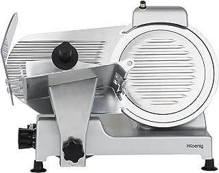 H.Koenig Trancheuse électrique à jambon, viande, saucisson, charcuterie MSX250, professionnelle, précise, épaisseur de la ...