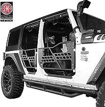 Offroad Steel Front & Rear Tube Half Doors for 2007-2018 Jeep Wrangler JK Unlimited 4-Door