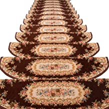 JIAJUAN Stair Carpet Treads Rubber Backing Durable Floor Protector Step Mat, 5 Styles, 4 Sizes, Customize (Color : D-1 pcs...