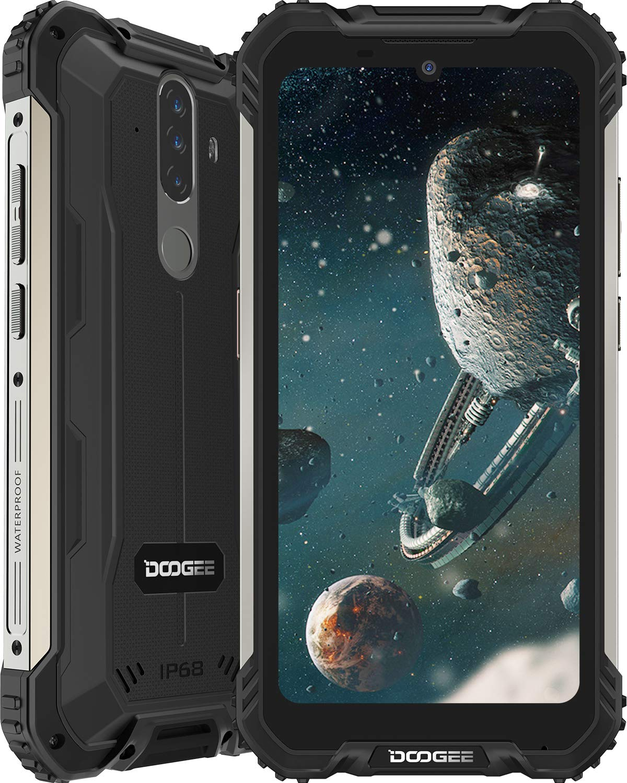 Smartphone, DOOGEE S58 Pro Android 10 Móvil Resistente 4G, Cámara Triples 16MP+Cámara Frontal 16MP, 6GB+64GB-SD 256GB, Batería 5180mAh, 5.7 Pulgada IP68/IP69K Telefono Movil Antigolpes, NFC/GPS, Negro: Amazon.es: Electrónica