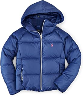 Polo Ralph Lauren Hooded Quilted Down Filled Coat Parka Jacket Newport Navy 2T