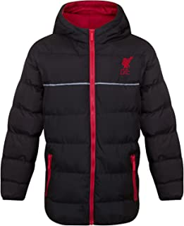 Liverpool FC Official Soccer Gift Boys Quilted Hooded Winter Jacket