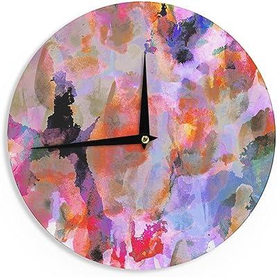 Kess InHouse Danii Pollehn LSD Pink Green Wall Clock 12 Diameter