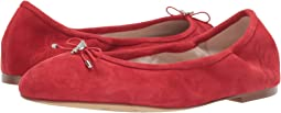 Lipstick Red Suede Leather