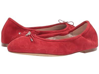 Sam Edelman Felicia (Lipstick Red Suede Leather) Women