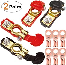 TKDMR 2Pairs Car Battery Cable Terminal Clamps-Connectors – Battery Terminal with..