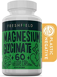 Sponsored Ad - Freshfield Vegan Magnesium Glycinate (Bisglycinate) 400mg Supplement | Relax Muscles | Reduce Cramping | St...