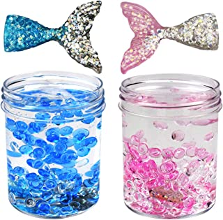 SWZY Fluffy Slime Mermaid Mud Cute Ice Crystal Slime with Fishbowl Beads and Fish Tail, 120ML2