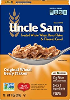 Uncle Sam Original Wheat Berry Flakes Cereal, High Fiber, Whole Grain, Non-GMO Project Verified, Kosher, He...