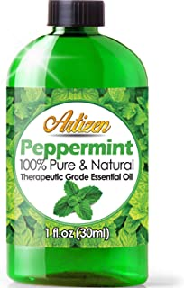 Artizen Peppermint Essential Oil (100% Pure & Natural - UNDILUTED) Therapeutic Grade - Huge 1oz Bottle - Perfect for Aromatherapy, Relaxation, Repel M