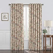 """WAVERLY Curtains for Bedroom - Arezzo 52"""" x 84"""" Decorative Single Panel Rod Pocket Window Treatment Privacy Curtains for L..."""
