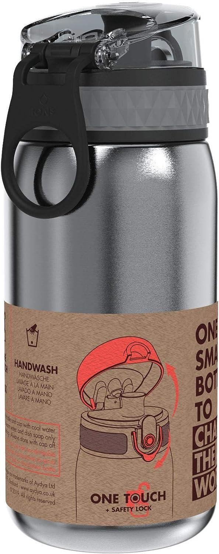 Ion8 Botella Agua Acero Inoxidable Ni/ños Sin Fugas 400 ml