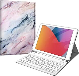 Fintie Keyboard Case for New iPad 8th Gen (2020) / 7th Generation (2019) 10.2 Inch, Soft TPU Back Stand Cover with Pencil ...