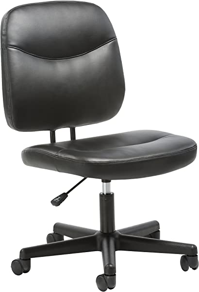 Essentials Leather Task Chair Ergonomic Adjustable Office Chair Black ESS 6005