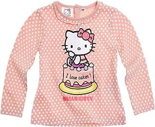 3bd429ecf Bioworld-Camiseta de manga larga para bebé, diseño de Hello kitty, color  rosa