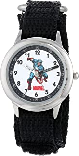 Marvel Boys' Captain America Black Time Teacher Watch