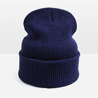Donna Pierce Hot Sale Unisex Knitted Hat Warm Winter Hat For Men And Women Skullies Beanies Woman Warm Cap Man Beanie Touca Cap Drop Shipping Blue