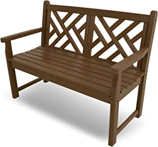 teak chippendale bench
