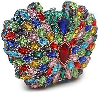 Chain Evening-Bag Ladies Diamante Crystal Womens Clutch-Purse Luxury Bling Bridal Prom-Handbag