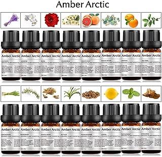 16-Pack 100% Pure Essential Oil Set - Sandalwood,Rose,Chamomile,Jasmine,Vetiver,Tea Tree,Frankincense,Lavender,Rosemary,Orange,Lemon, Peppermint,Grapefruit,Eucalyptus,Lemongrass,Cinnamon