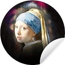 Muursticker Oude meestersKerst illustraties - Wandcirkel Oude meestersKerst illustraties - Het meisje met de parel door ou...