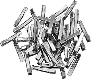 CELLOT 1-3/4 Inch (45 Mm)- Hair Clips Single Prong Metal Alligator Clips Hairbow Accessory -Silver,50 Pcs