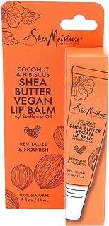 Shea Moisture Lip Balm Coconut & Hibiscus 0.5 Ounce (15ml) (3 Pack)