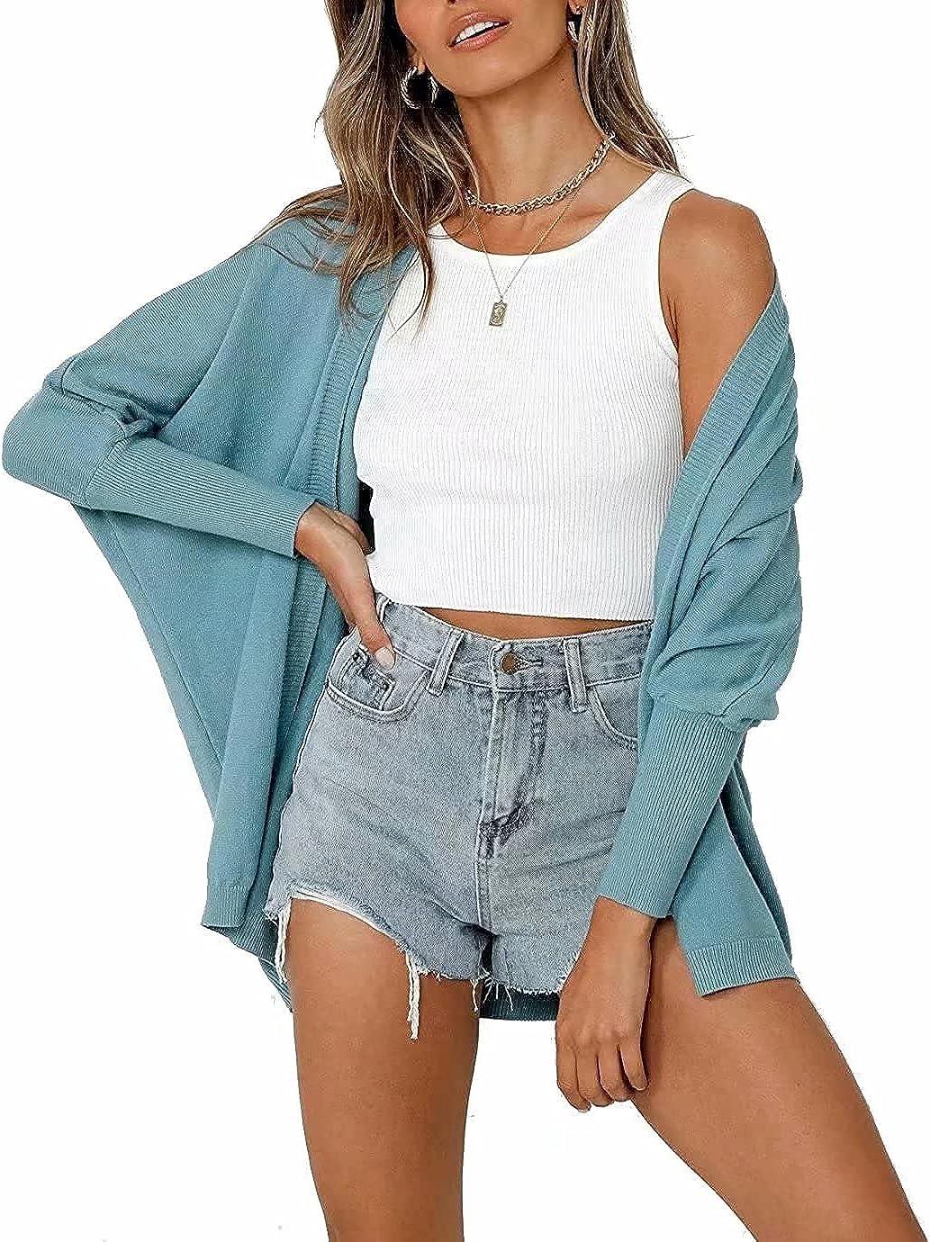 SUPRELOOK Women's Lightweight Cardigan Sweaters Long Sleeve Open Front Soft Drape Fall Dusters