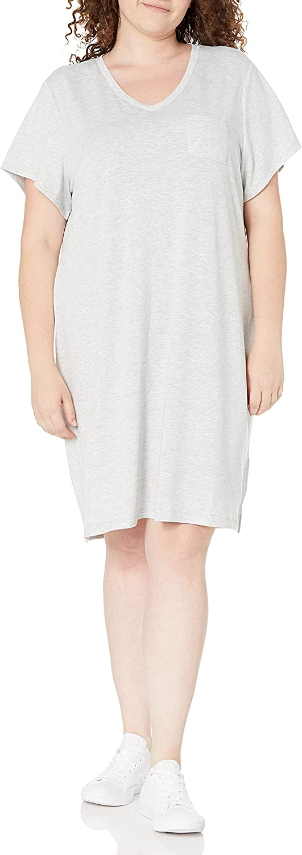 Marc New York Performance Women's Short Sleeve Knit T-Shirt Dress
