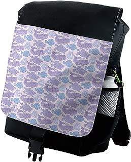 Ambesonne Whale Backpack, Sea Life Paisley Mehndi, Durable All-Purpose Bag