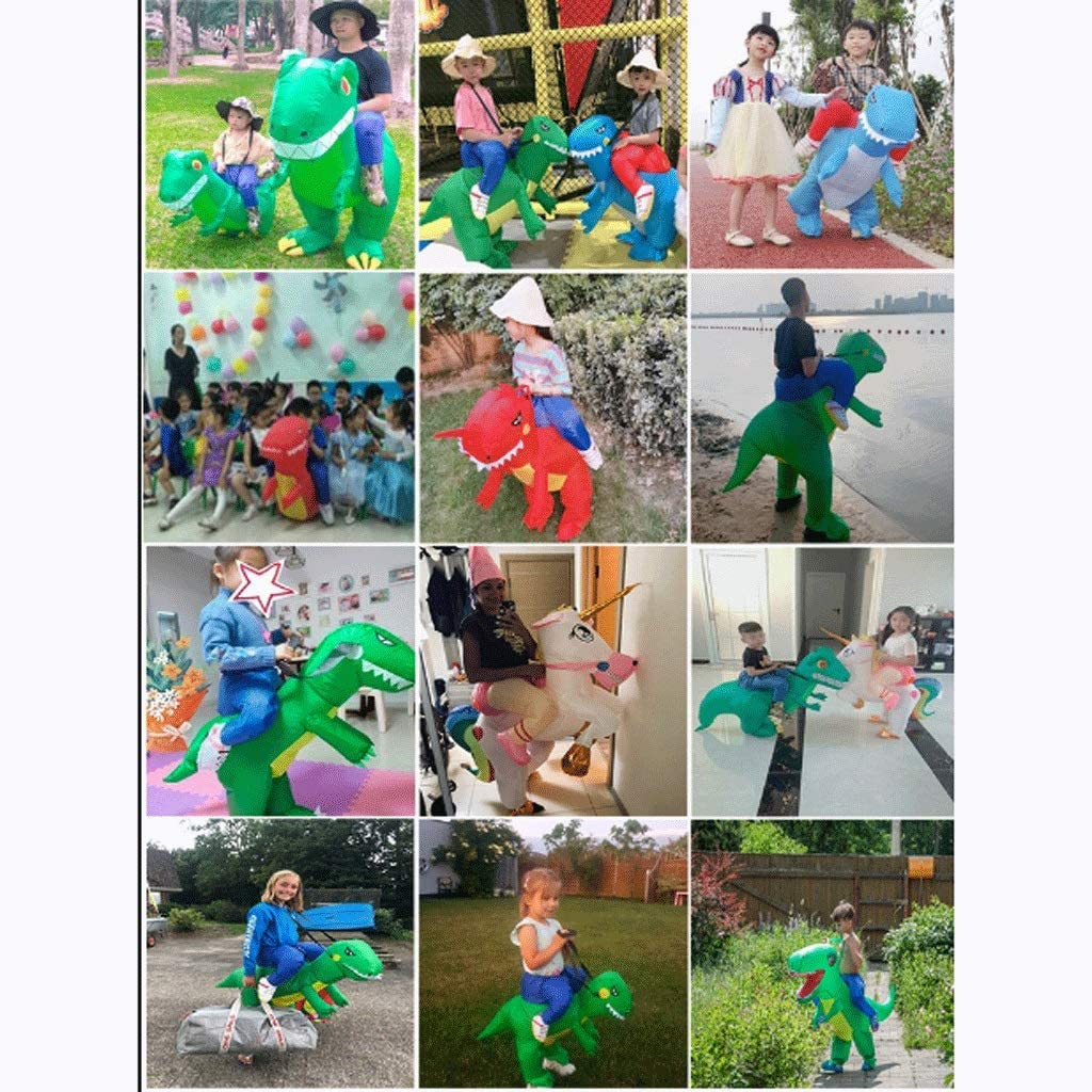 Opblaasbare Dinosaur Costume, Opblaasbare Costume Paard Halloween Costume-Blow Up Kostuums, verschillende stijlen (Color : Cub dinosaur red) Adult dinosaur red