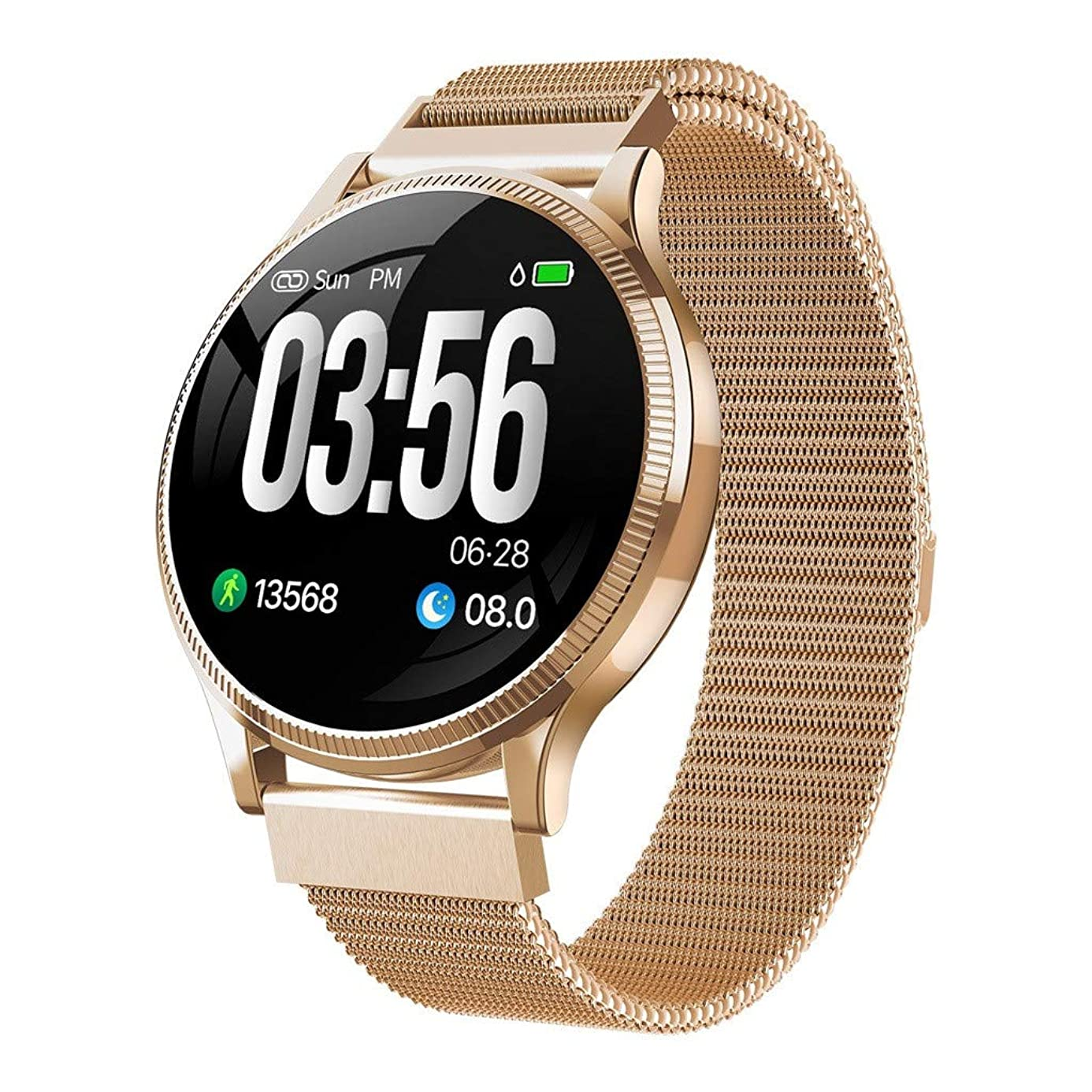 Kariwell Mens Women Smart Watch Color Touch Screen Pedometer Heart Rate Monitor Blood Pressure Activity Tracker Sleep Monitor Camera Bluetooth Sport Fitness Tracker