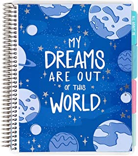 """Erin Condren Kids 12 Month 7""""x 9"""" Undated Planner and Activity Book. Includes Cute Stickers, Crossword Puzzles, Doodling Sections, and a Blank Customizable Calendar"""