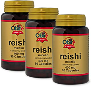 Obire Reishi 400 mg - 90 capsulas, Pack 3 unidades