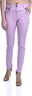 Malachi Women's Zip Trousers Skinny Streachable Tregging/Jeggings, Pants for Women and Girls with Zipper Pockets