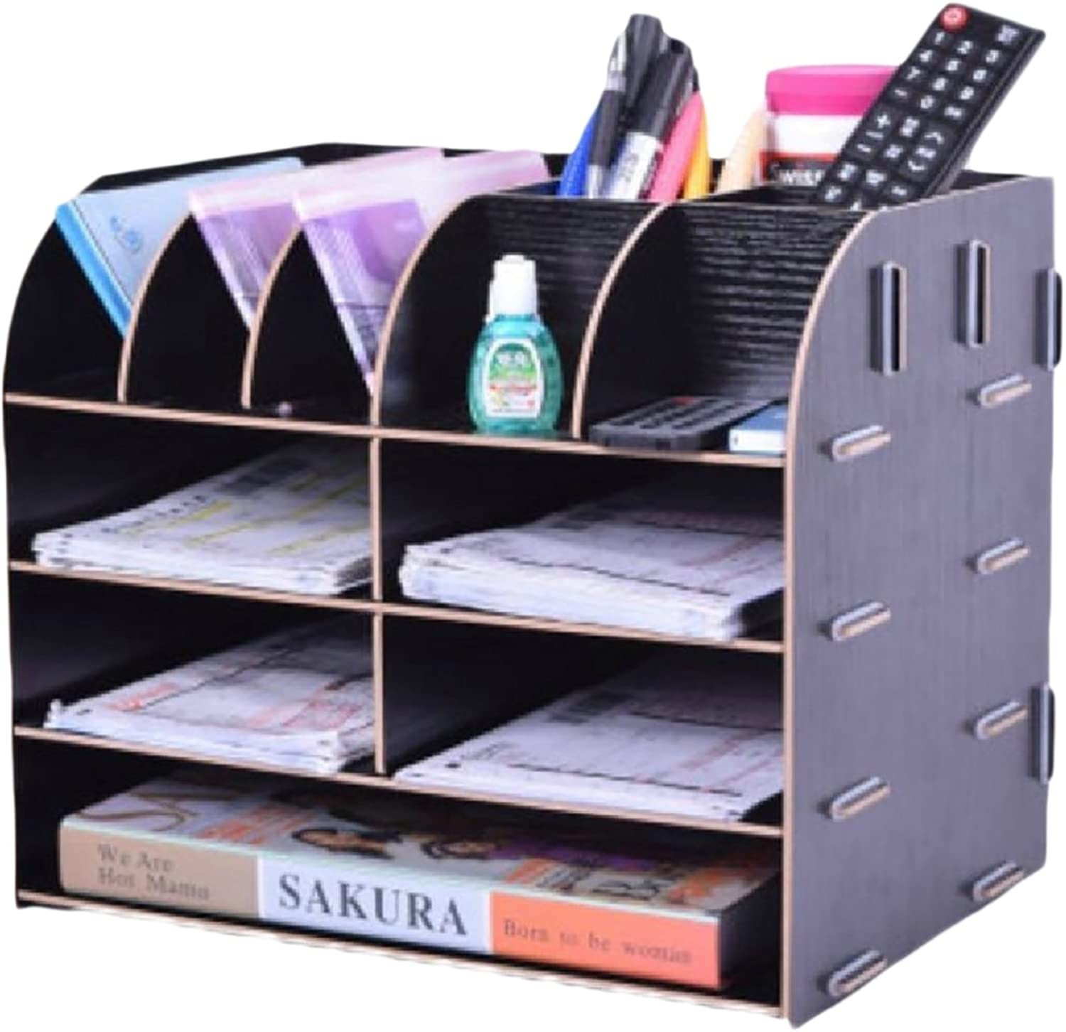 Winwinus Shelving Unit Designs Steel Organizer System Collapsable Stackable Wall Mounted Bookcase Black 4 Shelves