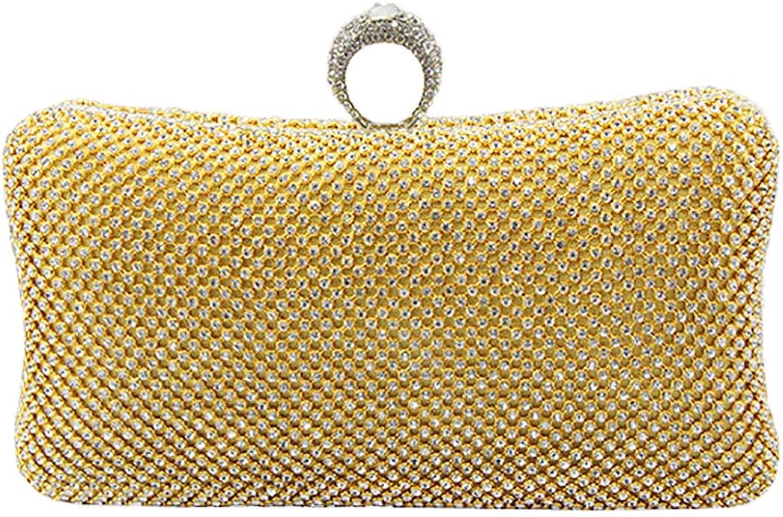 ENice Crystal Clutch Bag,Women's Luxury Handbag Ring Rhinestone Evening Bag Purse For Bridal Wedding Party Prom